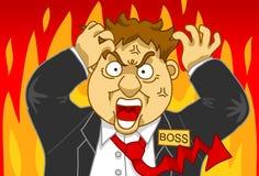 Gestione di rabbia Immagine Stock