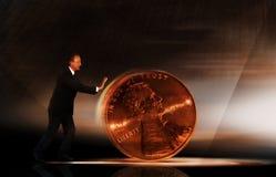 Gestione di soldi Fotografia Stock Libera da Diritti