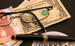 Gestione di soldi Immagini Stock