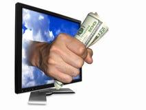 Gestione di soldi Immagine Stock