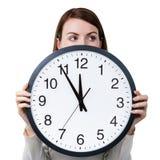 Gestione di tempo per la donna Immagine Stock