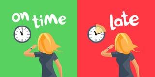 Gestione di tempo personale che ha luogo in tempo e recente fotografia stock libera da diritti