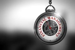 Gestione finanziaria sull'orologio illustrazione 3D Fotografie Stock Libere da Diritti