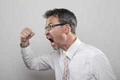 Gestionnaire agressif Photographie stock libre de droits