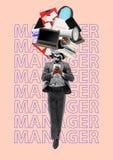 Gestionnaire Conception moderne Collage d'art contemporain photo libre de droits