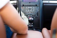 Gestionnaire dans son véhicule ou fourgon photos stock