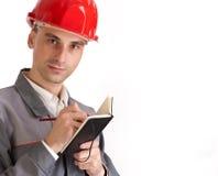 Gestionnaire de chantier de construction photo stock