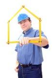 Gestionnaire de chantier de construction Photographie stock