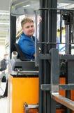 Gestionnaire de chargeur de camion d'entrepôt image libre de droits