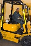 Gestionnaire de chariot élévateur Images libres de droits