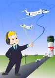Gestionnaire de compagnie aérienne Image stock