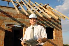 Gestionnaire de construction photographie stock libre de droits