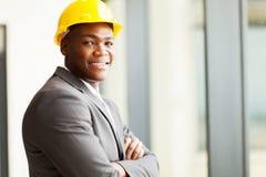 Gestionnaire de construction d'Afro-américain image stock