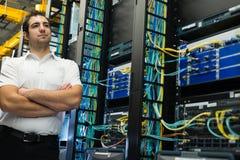 Gestionnaire de Datacenter Images stock