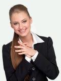 Gestionnaire de femme dans un procès images stock