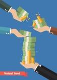 Gestionnaire de fonds tenant l'argent d'argent liquide Photo libre de droits