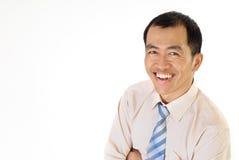 Gestionnaire de sourire heureux images libres de droits