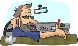 Gestionnaire de taxi illustration stock