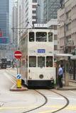 Gestionnaire de tramway à Hong Kong Photographie stock libre de droits