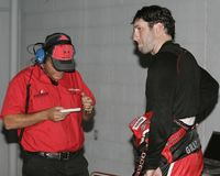 Gestionnaire Elliott Sadler de NASCAR photos libres de droits