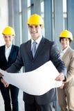 Gestionnaire et collègues de construction Image libre de droits