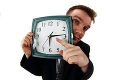 Gestionnaire et horloge image stock