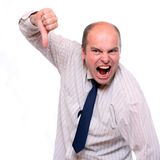 Gestionnaire fâché. Images libres de droits