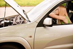 Gestionnaire-femme de véhicule à la roue Images stock