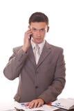 Gestionnaire parlant au téléphone image stock