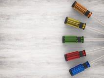 Gestionnaires colorés de vis Photos stock