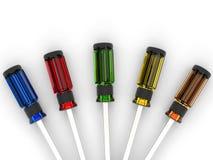 Gestionnaires colorés de vis Image stock