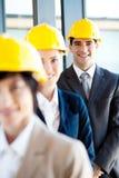 Gestionnaires de construction Photos stock
