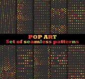 Gestippeld, achtergrond van het Pop-art de naadloze patroon Het pop-art stippelde retro stijlpatronen vector illustratie