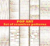Gestippeld, achtergrond van het Pop-art de naadloze patroon Het pop-art stippelde retro stijlpatronen stock illustratie
