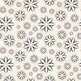 Gestippeld bloemen naadloos patroon Sier bloemenachtergrond Stock Afbeeldingen