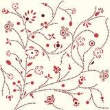 Gestippeld bloempatroon Stock Foto