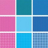 Gestippeld naadloos patroon Stock Afbeeldingen