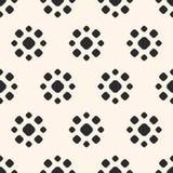 Gestippeld naadloos patroon Eenvoudige bloemen geometrische textuur Stock Afbeeldingen