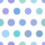 Gestippeld naadloos vectorpatroon Royalty-vrije Stock Afbeeldingen