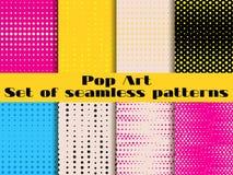 Gestippeld, Pop-art naadloos patroon Achtergrond in pop-artstijl stock illustratie
