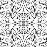 Gestippeld uitstekend vector naadloos patroon Stock Afbeeldingen