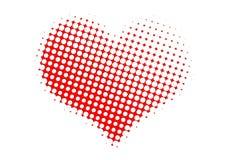 Gestippeld valentijnskaarthart Royalty-vrije Stock Foto