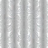 Gestippeld zilveren 3d naadloos patroon Stock Illustratie