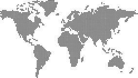Gestippelde aarde Royalty-vrije Stock Afbeeldingen