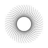 Gestippelde abstracte zwart-wit achtergrond Halftone patroon royalty-vrije illustratie