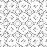 Gestippelde cirkels en kleine kruisen Royalty-vrije Stock Afbeelding