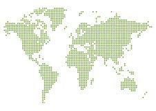 Gestippelde de Kaart van de wereld Stock Fotografie