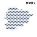 Gestippelde die kaart van Andorra op witte achtergrond wordt geïsoleerd vector illustratie