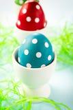 Gestippelde eieren stock fotografie