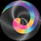 Gestippelde halftone Vector Spiraalvormige Kleurenpatroon of Textuur stock illustratie